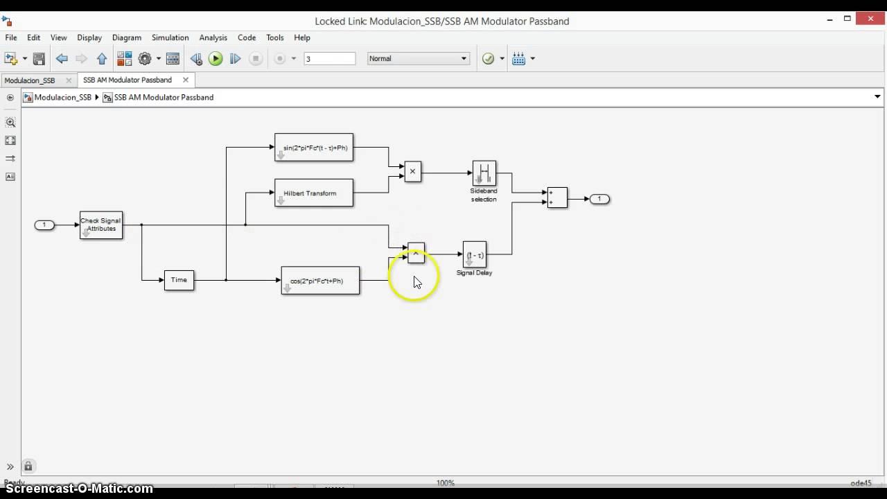 Modulación SSB en Simulink - YouTube