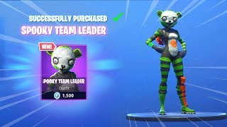 *NEW* SPOOKY TEAM LEADER SKIN (Fortnite Item Shop November 1) - SPOOKY TEAM LEADER AND NEW SKINS