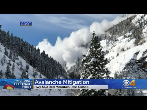 Red Mountain Pass Closed Because Of Avalanche Mitigation