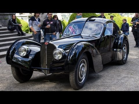Ralph Lauren $40mln Bugatti Type 57 SC Atlantic - 3x Start Up & Drive Scene!!