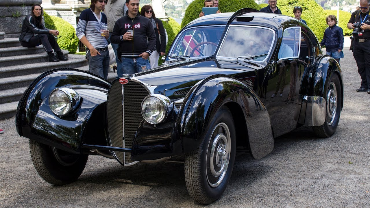 Ralph Lauren $40mln Bugatti Type 57 SC Atlantic - 3x Start Up ...