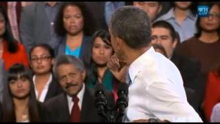 Obama Tries To Win Over Heckler On Immigration Reform