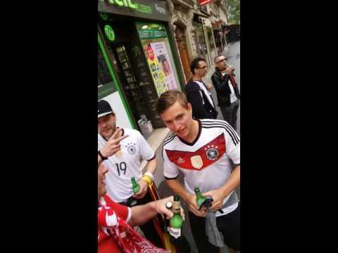Euro 2016. Polen und Deutsche Fans zusammen