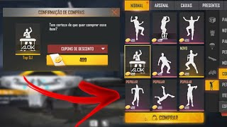 COMO DESBLOQUEAR TODOS OS EMOTES DO FREE FIRE COM OURO NO FREE FIRE! EMOTES POR OURO NO FREE FIRE