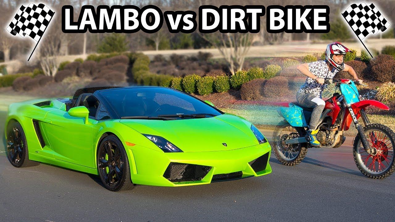 Dirt Bike Vs Lamborghini Who Will Win Youtube