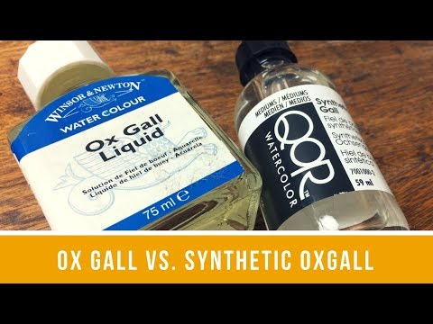 A Controlled Look at Winsor & Newton Ox Gall Liquid & QoR Synthetic Ox Gall