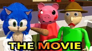 PIGGY vs BALDI ROBLOX CHALLENGE MOVIE! Ft SONIC horror Chapter 1 Peppa Granny Minecraft Animation
