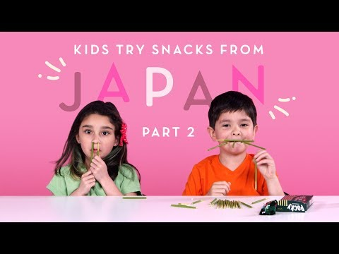 Kids Try Snacks from Japan (Part 2) | Kids Try | HiHo Kids