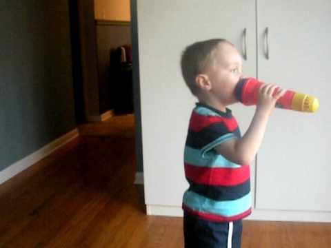 Zachary ready for Karaoke