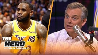 Colin Cowherd: LeBron is a 'lousy leader' this year, defends Stephen Curry's legacy | NBA | THE HERD