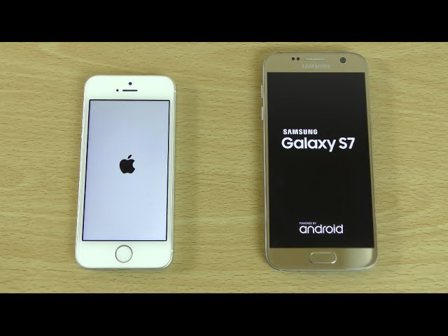 Apple iPhone SE and Samsung Galaxy S7 - Speed and Battery Test!