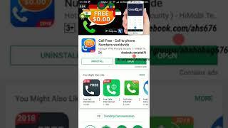 Free Call to Phone numbers from CallFree App screenshot 1