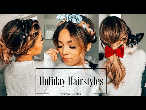 Holiday Hairstyles for Medium Length Hair | Fall/Winter 2017 | Ashley Bloomfield