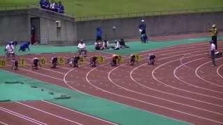 2013中部中学通信 男子3年100m予選3組 戸塚優斗 検索動画 18