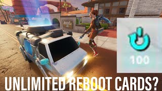 OVER *100* REBOOT CARDS?!? UNLIMITED REBOOT CARDS!! Fortnite Glitch Mythbusters #3 for Season 9
