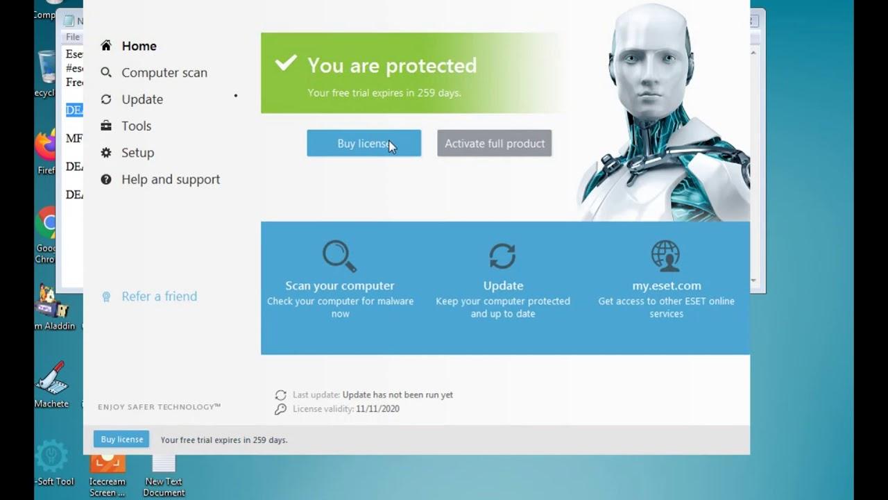 Eset Nod32 Internet Security Antivirus license key tested ...