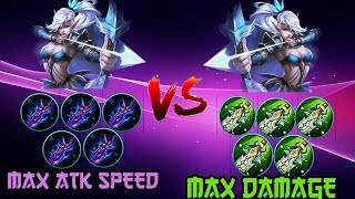 Max damage miya vs. Max attack speed miya - Mobile Legends