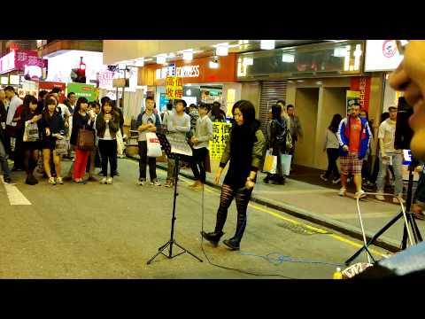 Street Karaoke @ Mong Kok Hong Kong