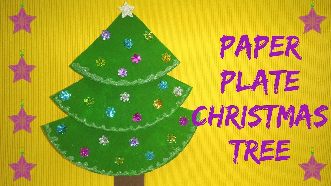 christmas craft paper plate christmas tree paper plate craft youtube