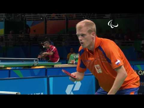 Table Tennis | Netherlands v Belgium | Men's Singles Final Match SM9 | Rio 2016 Paralympic Games