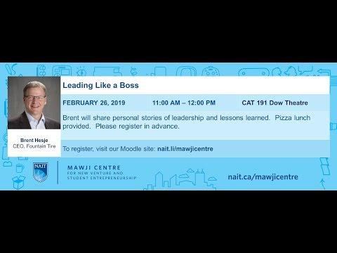Brent Hesje, CEO Fountain Tire, Leading like a Boss Feb 26_2019