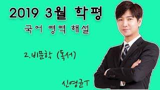 2019년 시행 고3 3월 학평 국어 해설 (비문학)