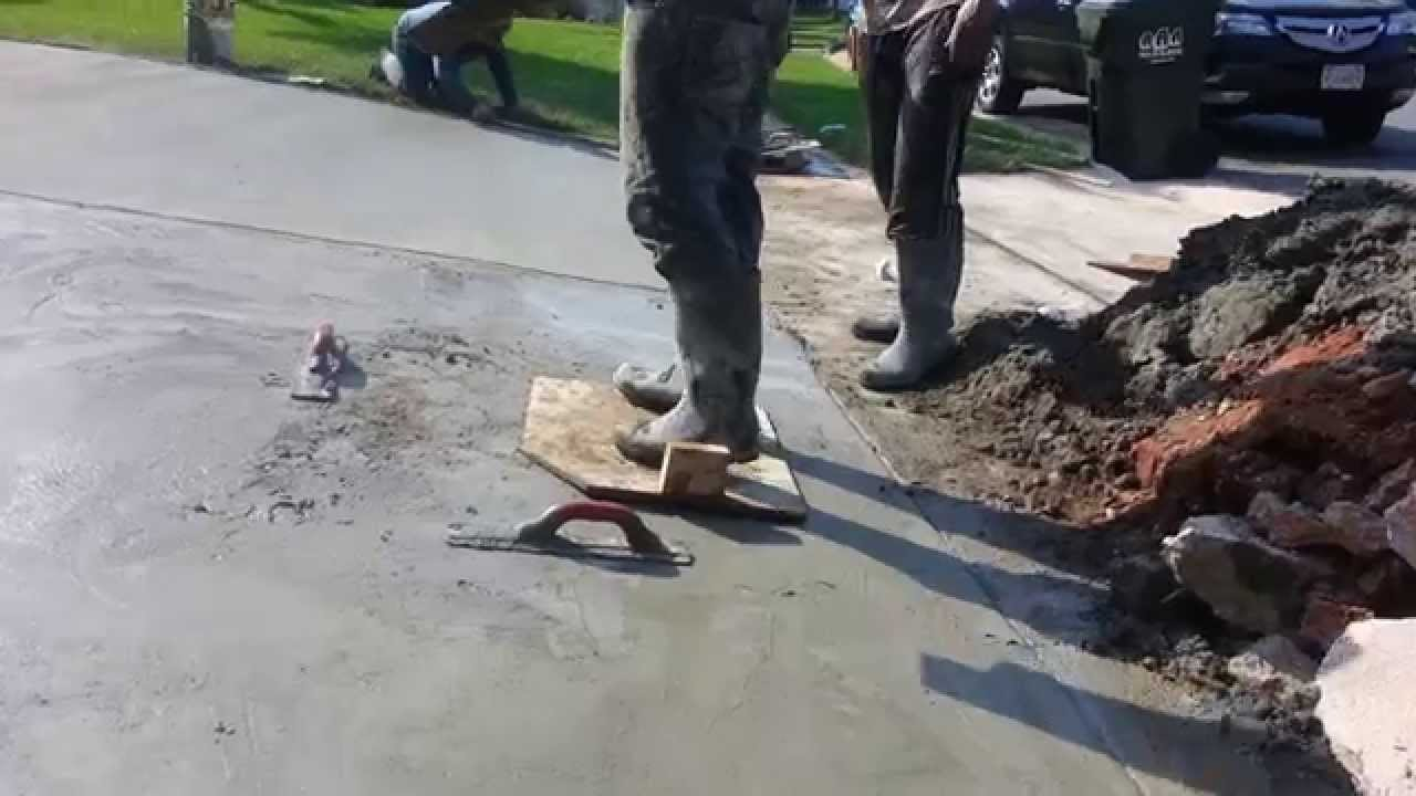 How Not To Lay Concrete Driveway Is This Normal