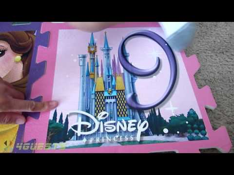 Puzzle Foam Floor Mat Set Disney Princess Youtube