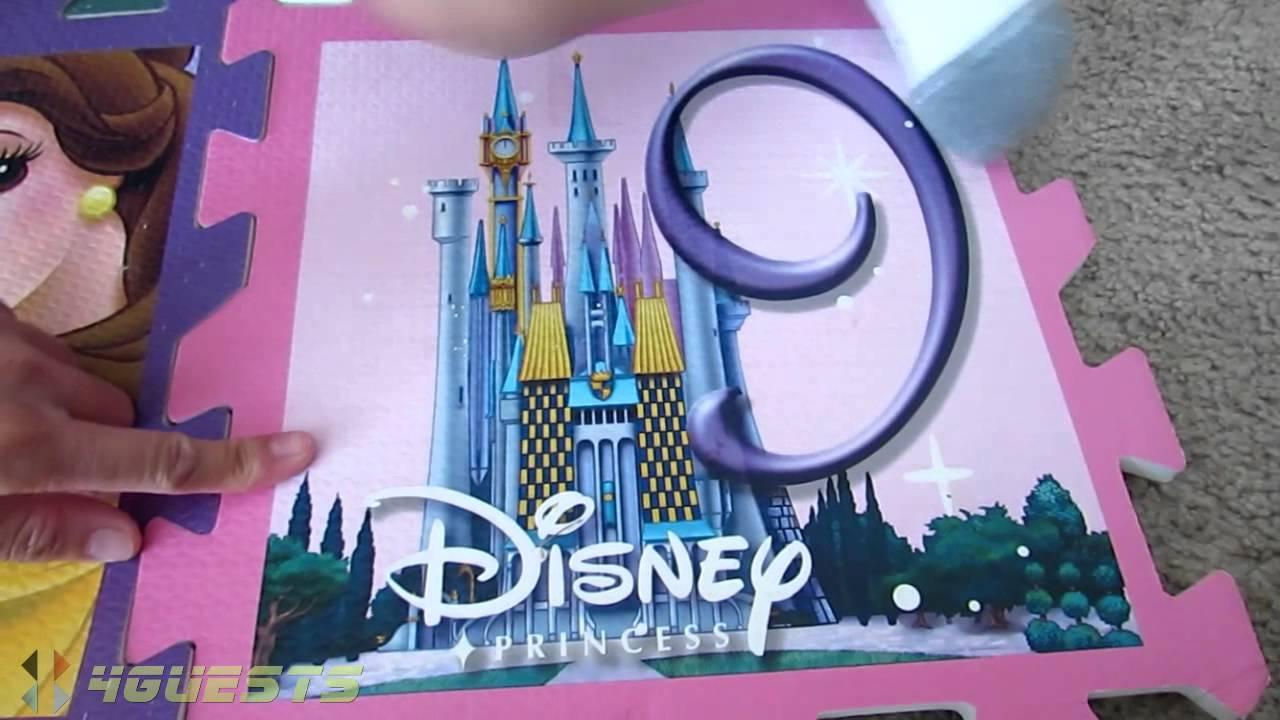 Puzzle Foam Floor Mat Set, Disney Princess - YouTube