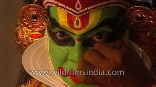 Kathakali dancers get ready for the big show - rare behind the scenes footage