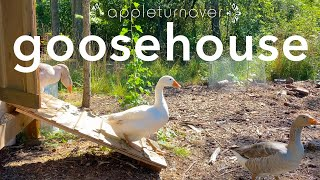 build a goosehouse and keep geese to create a resilient farm, at appleturnover