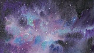 Speed drawing l Уроки рисования l Как нарисовать НОЧНОЕ ЗВЕЗДНОЕ НЕБО(Ночное звездное небо всегда являлось великой тайной для человека, и всегда человек хотел узнать, что там..., 2016-05-12T17:00:02.000Z)