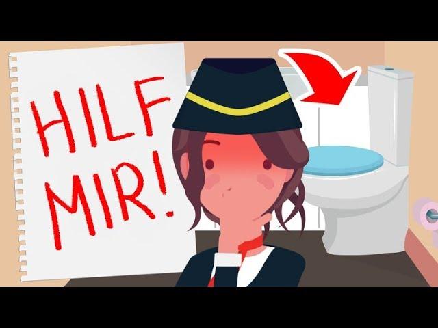 """Eine Flugbegleiterin rettete ein Mädchen, indem sie dem Hinweis """"Hilf mir"""" folgte"""