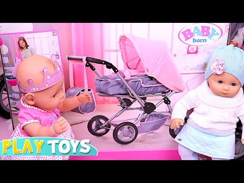 Baby Born Stroller – baby doll push chair toy