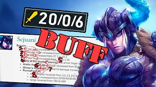 I've Been Playing 9 Years & NEVER Seen Buffs Like This! WTF?! 8 BUFFS TO SEJUANI IN ONE PATCH!!