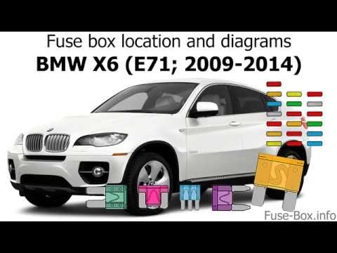 Fuse box location and diagrams BMW X6 (E71; 2009-2014) - YouTube