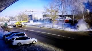 Томский водитель совершил на Субару 10 метровый прыжок