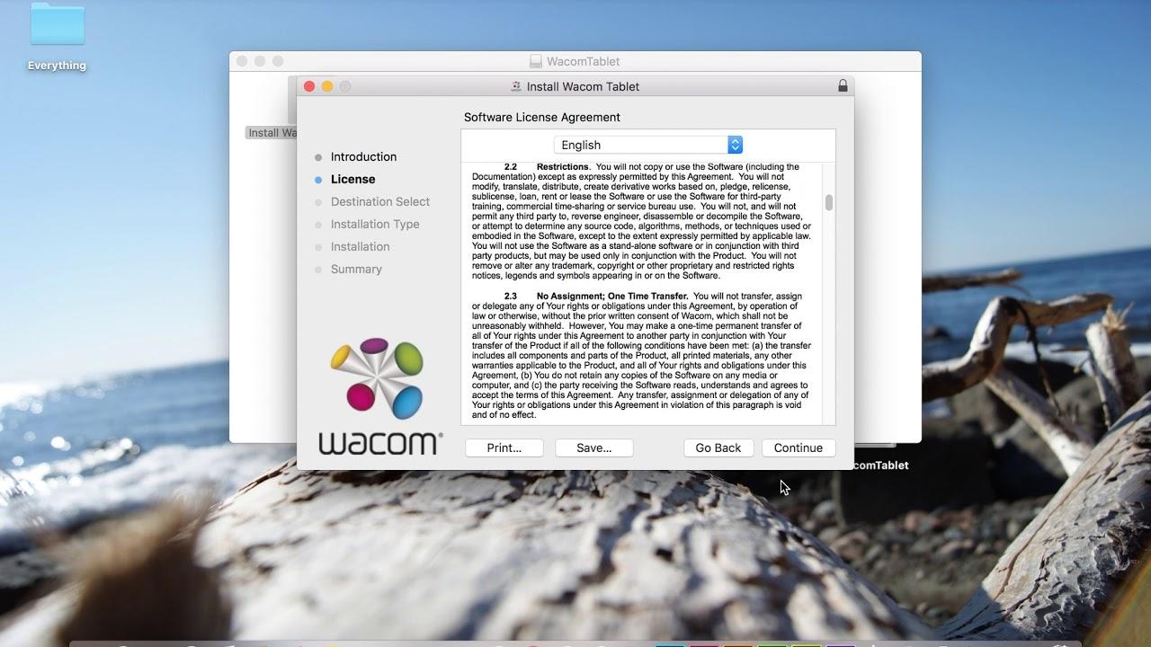 Install wacom intuos pro