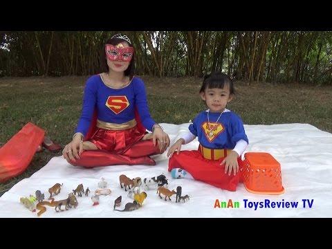 Hunting Surprise Eggs With Toys For Kids - Săn Và Bóc Trứng Học Các Con Vật ❤ AnAn ToysReview TV ❤