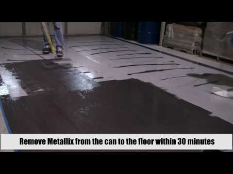 Metallix Epoxy - Pure Metallic - Metallic Epoxy Floor Coating Quick Instructional Video