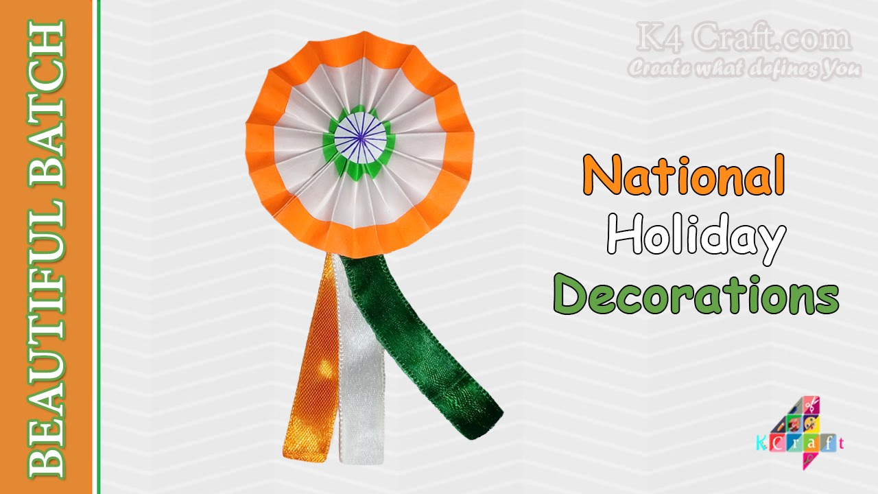 "Craft For Flag Of India: How To Make Indian Tricolour ""Badge"" For Kids"