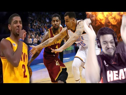 GREATEST PG EVER! THOT KING KYRIE IRVING TOP 10 CROSSOVERS & PLAYS REACTION!!