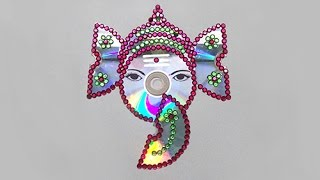 DIY Crafts - How to Make Lord Ganesh With Waste CD