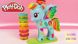 Play-Dow Rainbow Dash My Little Pony Style Salon Playset Hasbro Kids Toys Playdough Games