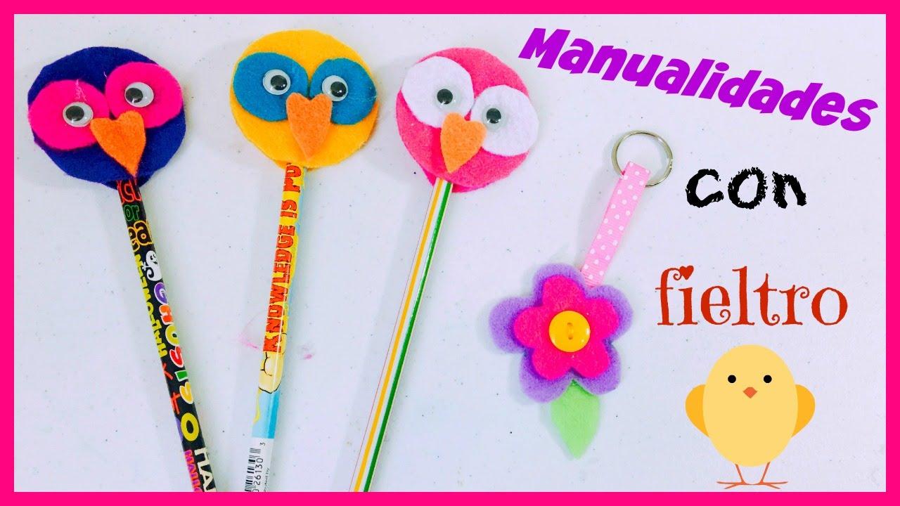 Llavero de fieltro y decoraci n de l pices manualidades - Manualidades para decoracion ...
