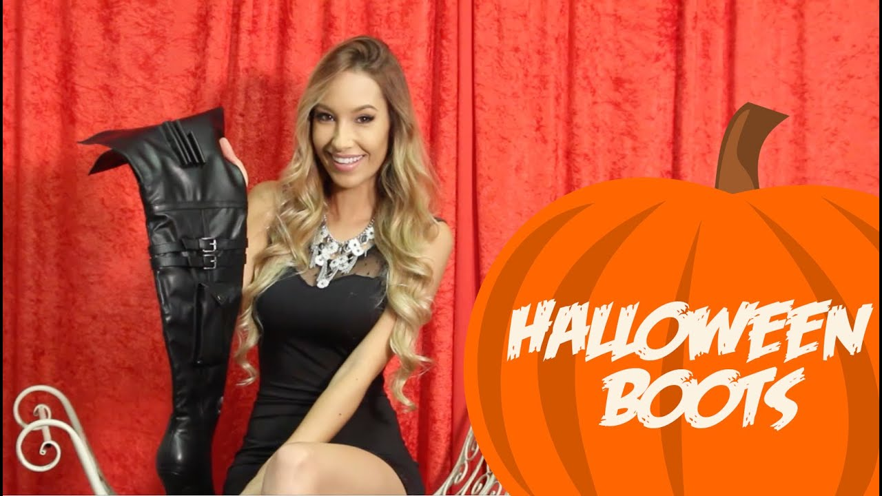 Thigh High Boots To Go With Your Halloween Costume! - YouTube