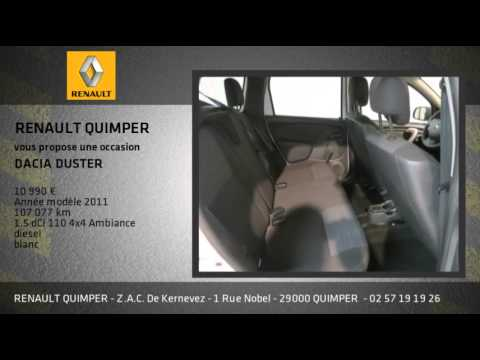 annonce occasion dacia duster 1 5 dci 110 4x4 ambiance youtube. Black Bedroom Furniture Sets. Home Design Ideas