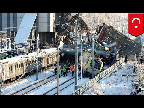 Turkey train crash leaves at least 9 dead, dozens injured - TomoNews