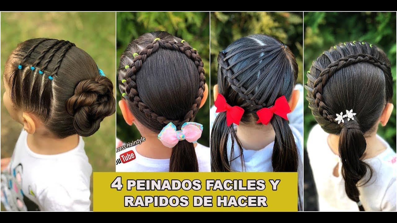 4 Peinados Faciles Y Rapidos De Hacer Para Ninas Peinados Para La