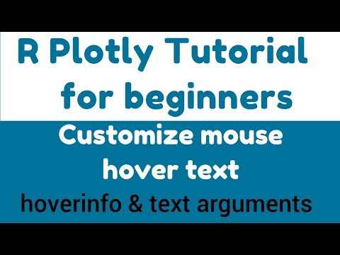 R Plotly Tutorial - Customize mouse hover text - hoverinfo
